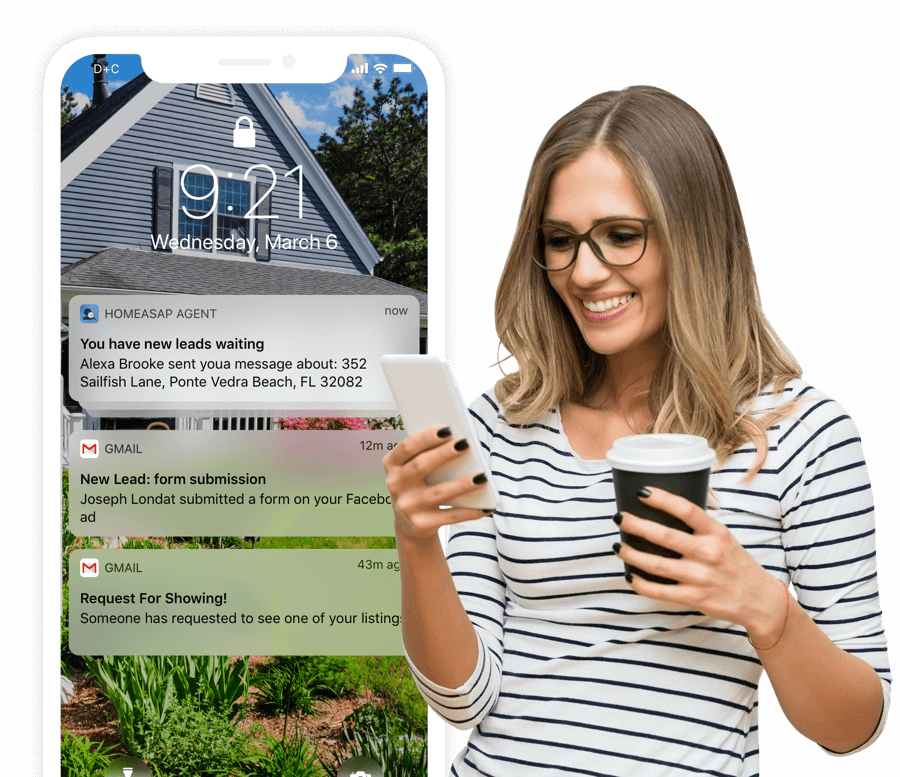 New Lead Notifications from the Free Home ASAP Agent app will make connecting with leads quick and easy.